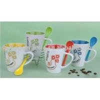 Best ceramic coffee mugs with spoon (SPCF-094) wholesale