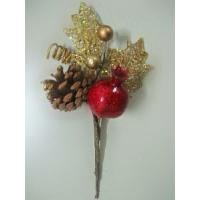 Best Golden gilt christmas flower pick wholesale
