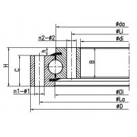 Quality Four point contact ball slewing bearing (no gear type) for sale
