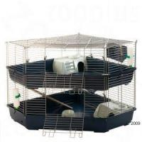 2 storied double corner cage for small pet dwarf rabbits for Discount guinea pig supplies