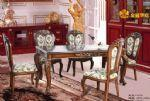 EA009 European style Luxurious carved Antique outline in gold restaurant table