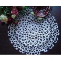 """Best Vintage Handmade Tatted Lace white Round Doily/Placemat 15"""" wholesale"""