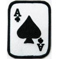 Best Ace of Spades Embroidered Patch Iron-On Poker Card Emblem wholesale