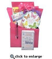 Buy Gift for Cancer Patient |Boredom Buster Get Well Gift Basket with Book in Pink at wholesale prices