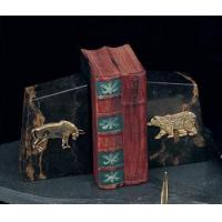 Bear Bookends Solid Marble Bull and Bear Bookends - Set of Two