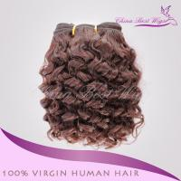Quality Brazilian virgin hair Machine weft Brazilian virgin hair 8inch color 2 10mm curl for sale