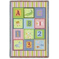 Best Baby & Kids Tapestry Throw Blanket | ABC 123 Mini | 34 x 53 wholesale