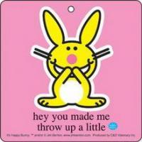 China Happy Bunny Throw Up Air Freshener on sale