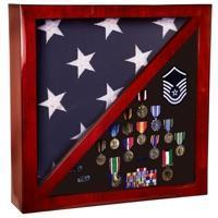 Flag Case With Divider Display Area