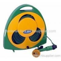 Best Garden Water Equipment Garden Flat Hose Reel With 50FT Hose And Nozzle wholesale