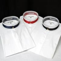 Quality Banded Collar Shirts w/Decorative Band & Button Closure for sale