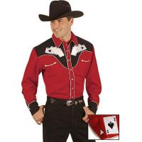 Best Scully Poker Cards Embroidery Retro Western Shirt wholesale