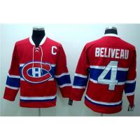 Best Montreal Canadiens #4 BELIVEAU Red CH Patch Jersey wholesale