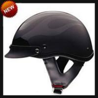 Best DOT Black Flame Shorty Motorcycle Helmet wholesale