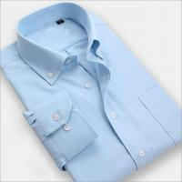 Men Shirt Men wear solid color long-sleeved business shirt iron shirts
