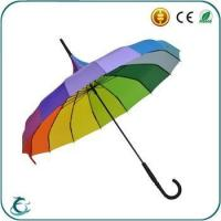 Quality good quality manual open pagoda color straight rainbow color umbrella for sale