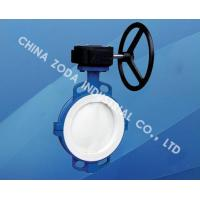 Quality Wafer Type PTFE Lined Butterfly Valve for sale