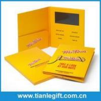 Promotional lcd screen video brochure greeting card for business gift