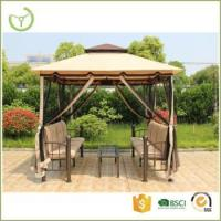 Quality Garden three seater swing gazebo with mosquito net patio swing canopy tent for sale