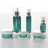 Eco Friendly Cosmetic Containers Luxury Cosmetic Acrylic Bottle Set