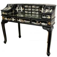 Quality Fine Lacquer Furniture Lacquer Lady's Desk w/ Mother of Pearl for sale