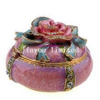 TBP0287-flower jewelry trinket box Valentine's gift for her