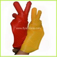 Quality 2015 Newest Heat Resistant Silicone Kitchen and BBQ Gloves FYK-1047 for sale