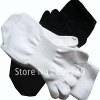 Quality men's 100% sports cotton five-toe socks for sale