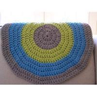 Chunky Kintting Round Blanket