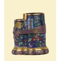 Quality Gilt filigree enamel volume Shujin bundle wrapped in cloth style pen holder for sale