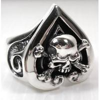 Best Skull Rings Crossbones Skull Heart Ace Rings wholesale