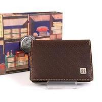 Leather Business Card Holder - Happiness