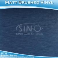 Quality Brushed Dark Blue Car Wrapping Vinyl Foil for sale