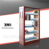 Quality Library Book Shelf with Wooden Panels for sale