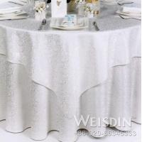 Quality 100% cotton underlay crinkle table cloth for sale