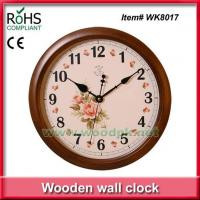 WK801734cm Woodpecker wooden quartz wall clock