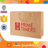 New style ECO-friendly paper shopping bag brand name with paper twist