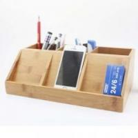 Quality Bamboo Wood Kitchen Bamboo stationery pen holder for sale
