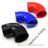 "Quality 4"" to 3"" Black 90 degree Reducer Elbows Silicone Hose 102mm to 76mm for sale"