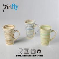 Quality art design coffee set of stoneware for sale