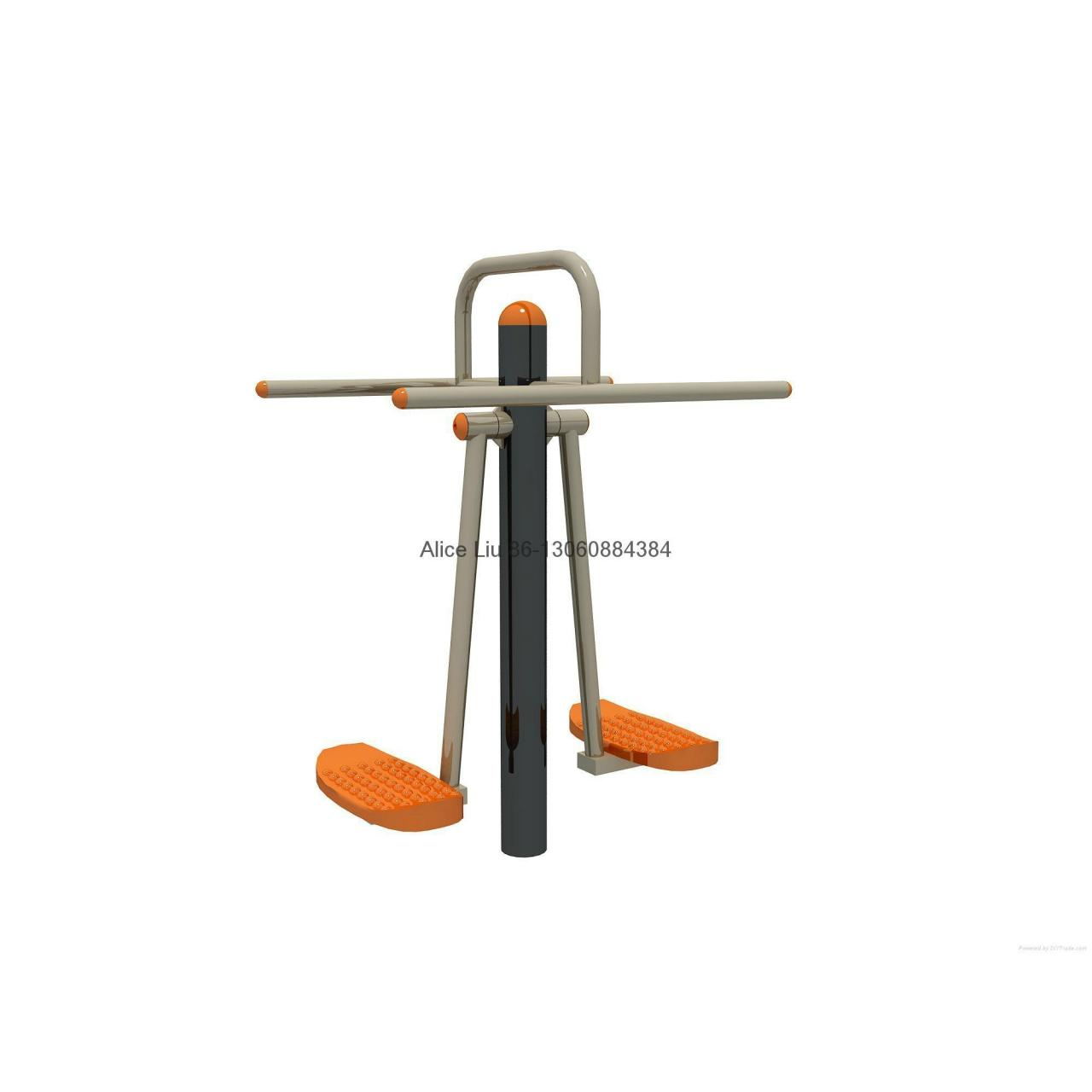 Quality Double wave plate park steel outdoor fitness equipment for sale