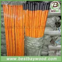 Quality PVC Coated Wood Broom Sticks PVC Cover Wooden Mop Stick for sale