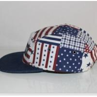 Quality 2016 fashion the Stars and Stripes cotton camper cap for sale