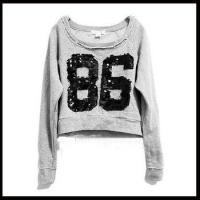 Quality 2013 sweatshirt women lady sequins fashion screwneck sweatshirt for sale