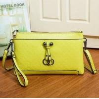 2015 Spring summer style wholesale fashion printed real leather women's clutch bags made in china