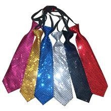 Buy Fashion Party Silver Sequin Tie at wholesale prices