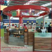 Quality Marble counter top mall dish order food kiosk for sale
