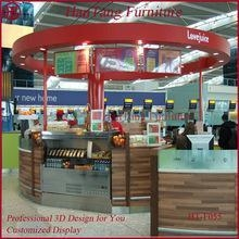 Buy Marble counter top mall dish order food kiosk at wholesale prices