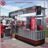 Quality Portable stainless steel outdoor hot dog carts with wheel for sale