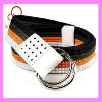 Quality double d ring custom web mexican belt for sale